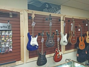 Rdawg Guitars Display at Fire River Music