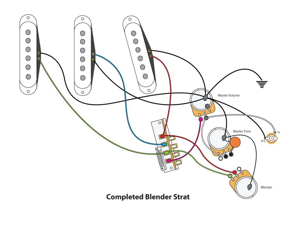 Strat Wiring Diagram With Blender Pot - Wiring Diagram K3 on
